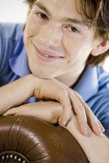 Portrait of a teenage boy. : Stock Photo