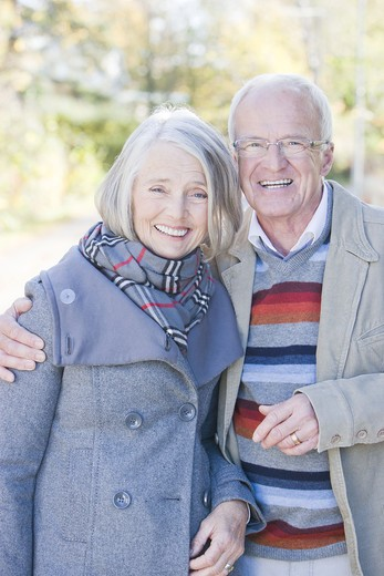 Stock Photo: 4306R-22207 Senior couple taking a walk, Sweden.