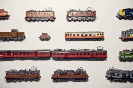 Toy trains, Sweden. : Stock Photo