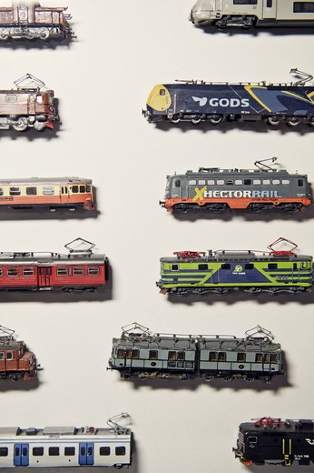 Stock Photo: 4306R-22503 Toy trains, Sweden.