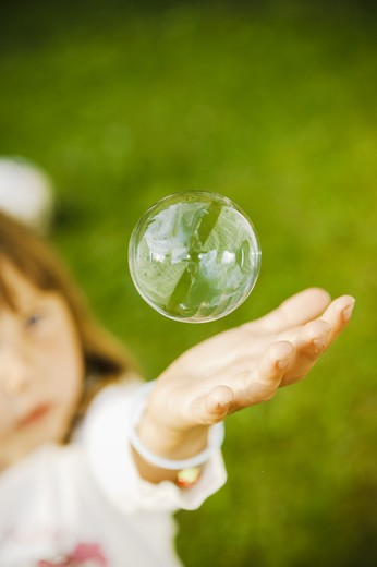 Stock Photo: 4306R-24066 A soapbubble, Sweden.