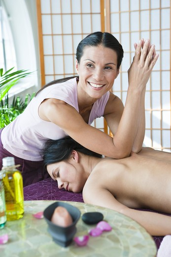 Stock Photo: 4306R-24882 Spa massage