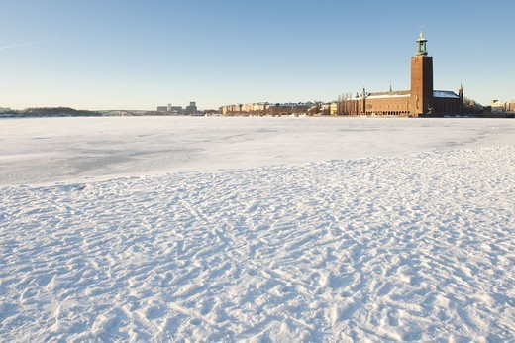 Stadshuset in winter : Stock Photo