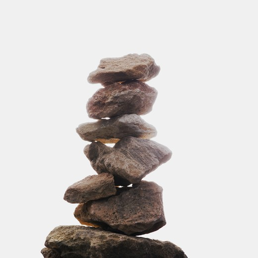 Stock Photo: 4306R-25455 Stacked stones