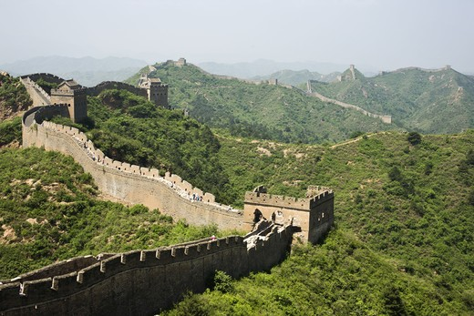 Stock Photo: 4306R-26464 Great Wall of China, high angle view