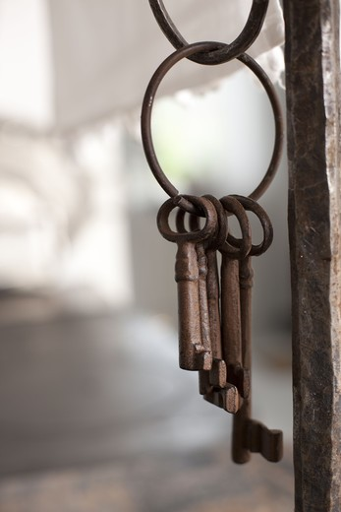 Old rusty keys : Stock Photo
