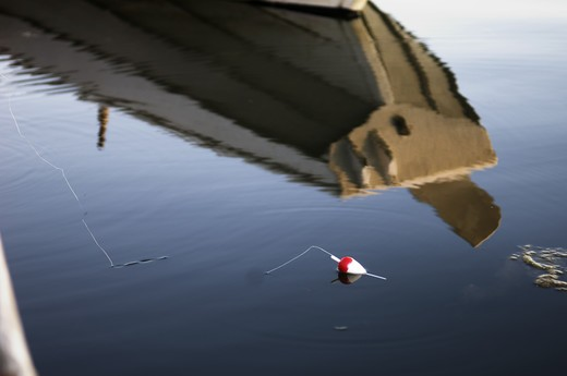 Stock Photo: 4306R-8430 Fishing bait floating on sea surface