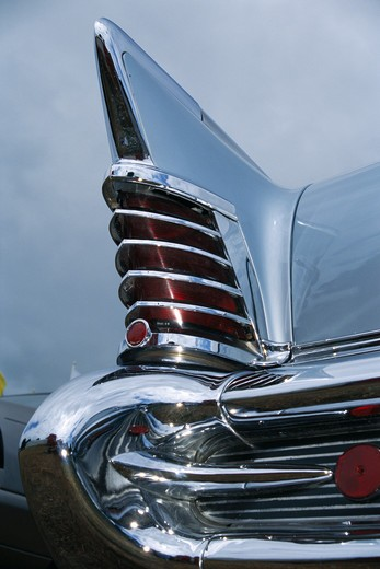 Detail on a vintage car, close-up. : Stock Photo