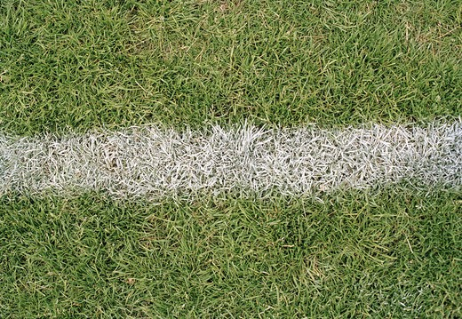 Stock Photo: 4306R-9880 Goal line on a football ground.