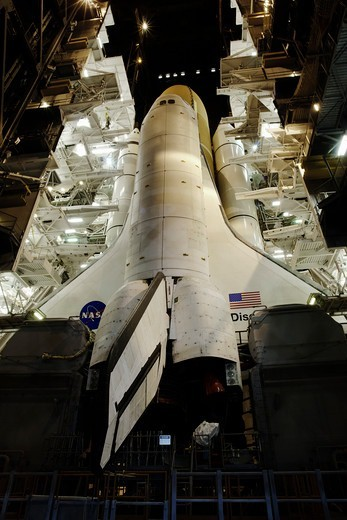 Space Shuttle Discovery Begins Her Historic Return to Flight : Stock Photo