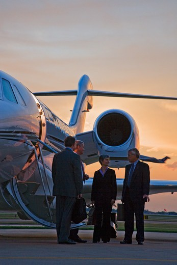 Business Executives By Jet : Stock Photo