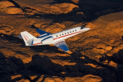 Business Jet Aerial : Stock Photo