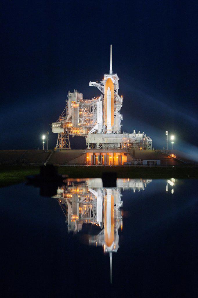 Stock Photo: 4313-798 Rainy Sunset on Night Before Final Launch