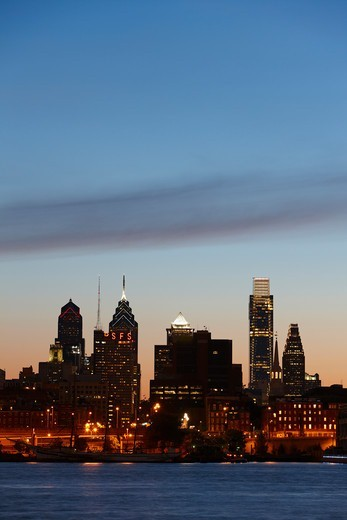 Stock Photo: 4316-1954 Philadelphia Skyline
