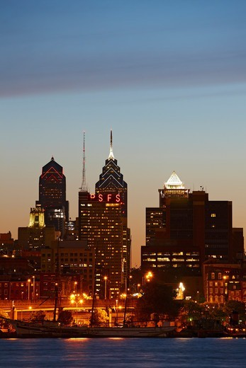Stock Photo: 4316-1957 Philadelphia Skyline