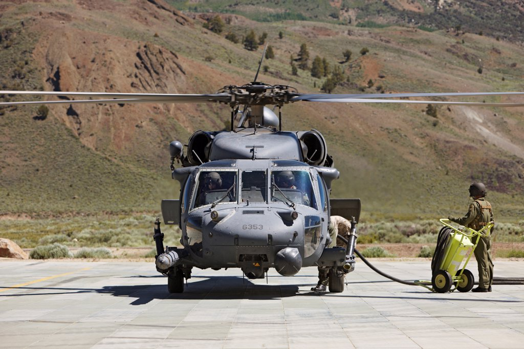 MH-60 Pave Hawk, a special operations variant of the Sikorsky UH-60 Black Hawk helicopter. : Stock Photo