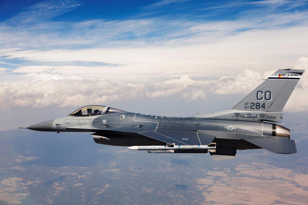 Stock Photo: 4316-4158 F-16 in Flight