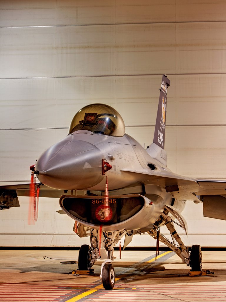 Stock Photo: 4316-4227 F-16, High Dynamic Range, or HDR Image