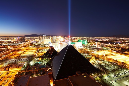 Stock Photo: 4316-4965 Las Vegas skyline at night