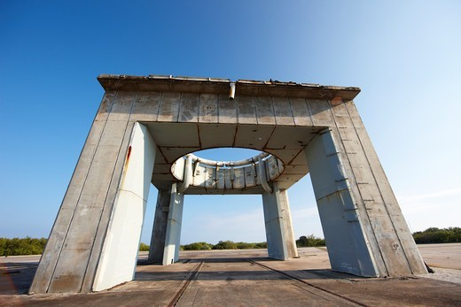 Stock Photo: 4316-5415 Remnants of the Launch Pedestal at Launch Complex 34, Cape Canaveral Air Force Station, Cape Canaveral, Florida, USA