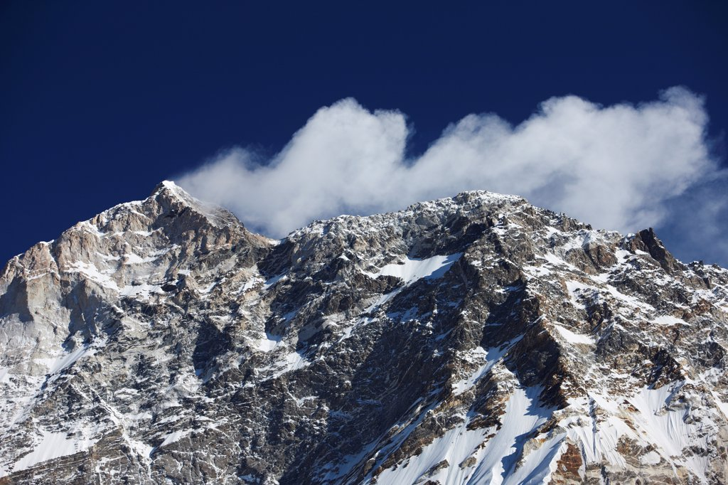 Nepal, Makalu-Barun National Park, West Face of Makalu : Stock Photo