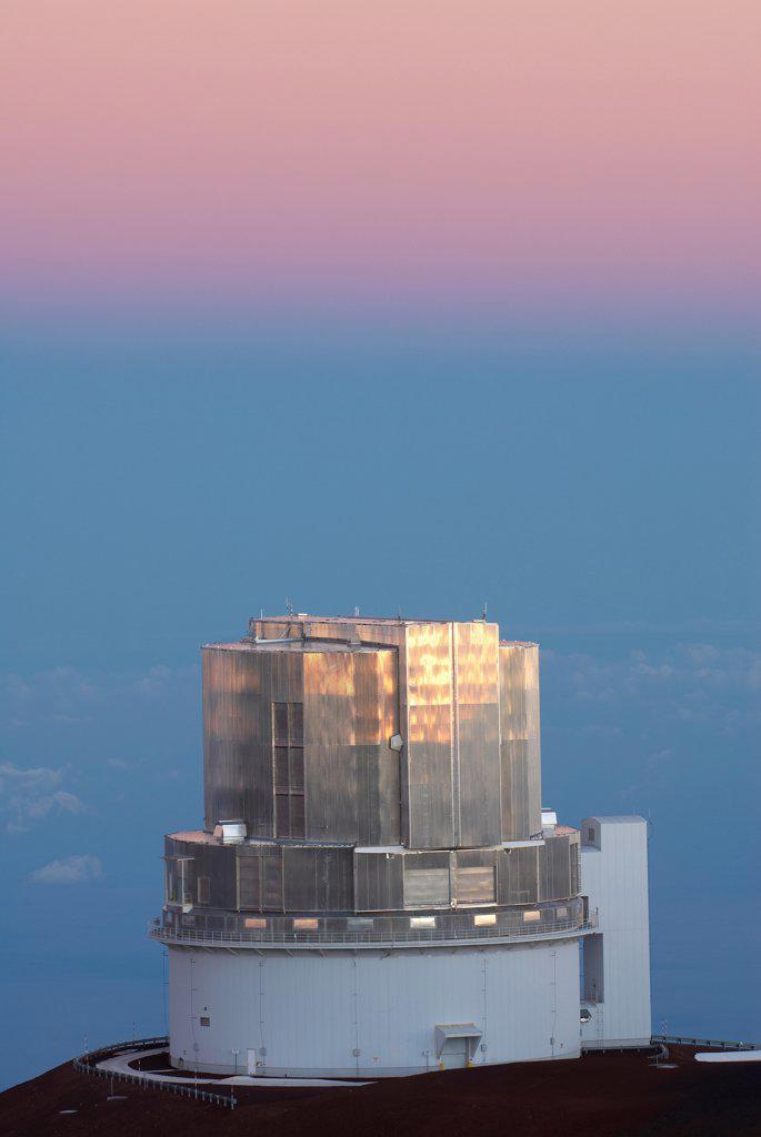 Subaru Telescope on a hill, Mauna Kea, Hawaii Islands, Hawaii, USA : Stock Photo
