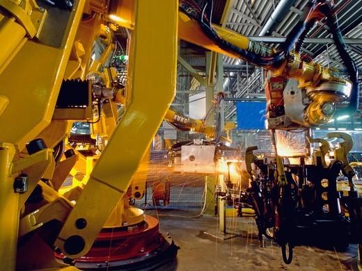 Robotic Welding : Stock Photo