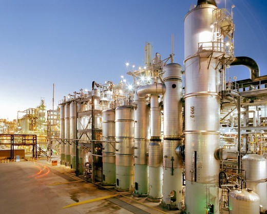 Stock Photo: 4325-689 A Large Bayer Chemical Facility at Baytown, Texas