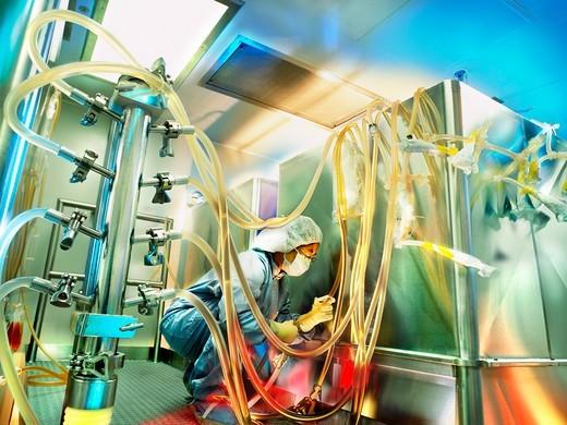 Preparing the Pharmaceutical Anti-hemophilic Factor Kogenate : Stock Photo