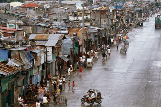 Stock Photo: 4325-798 R 10 Slum in Manila