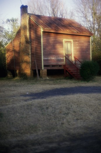 Stock Photo: 433-521 Sharecropper's Shack