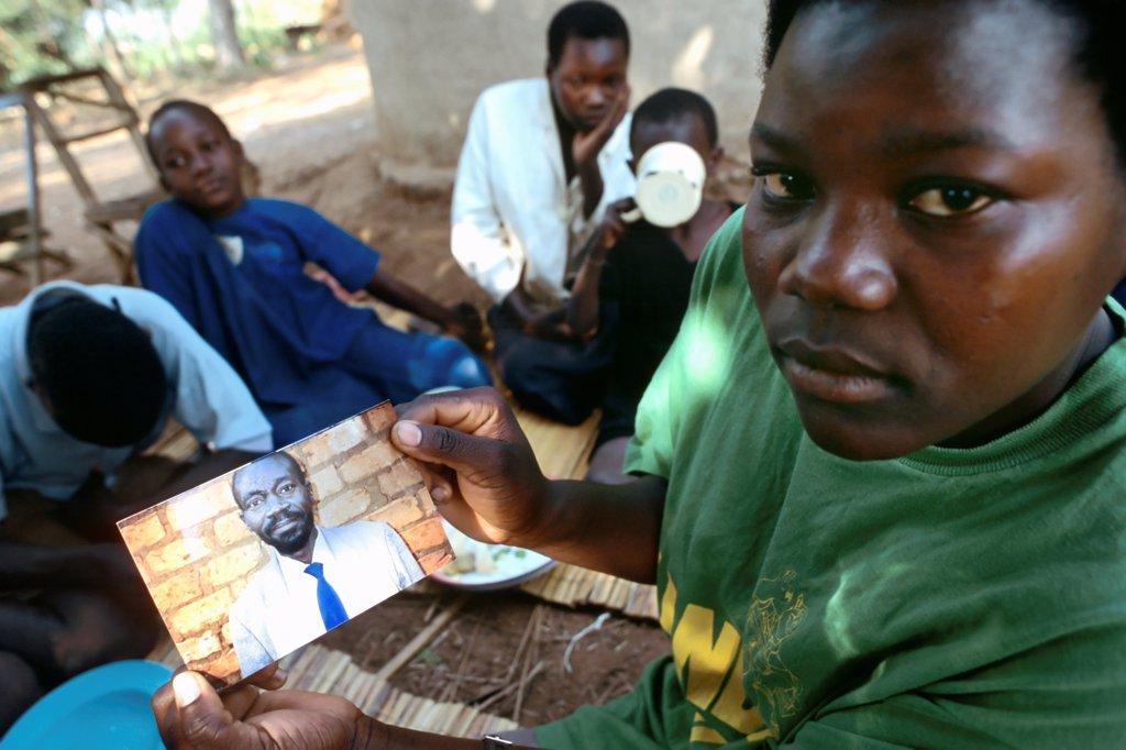 Ugandan Woman Widowed by AIDS : Stock Photo