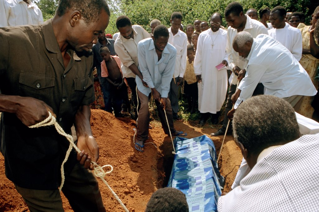 Funeral of a Ugandan AIDS Victim : Stock Photo