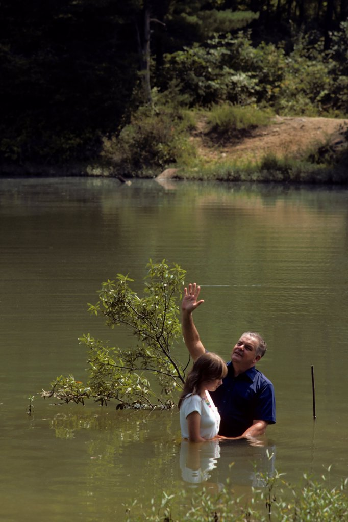Tennessee River Baptism : Stock Photo