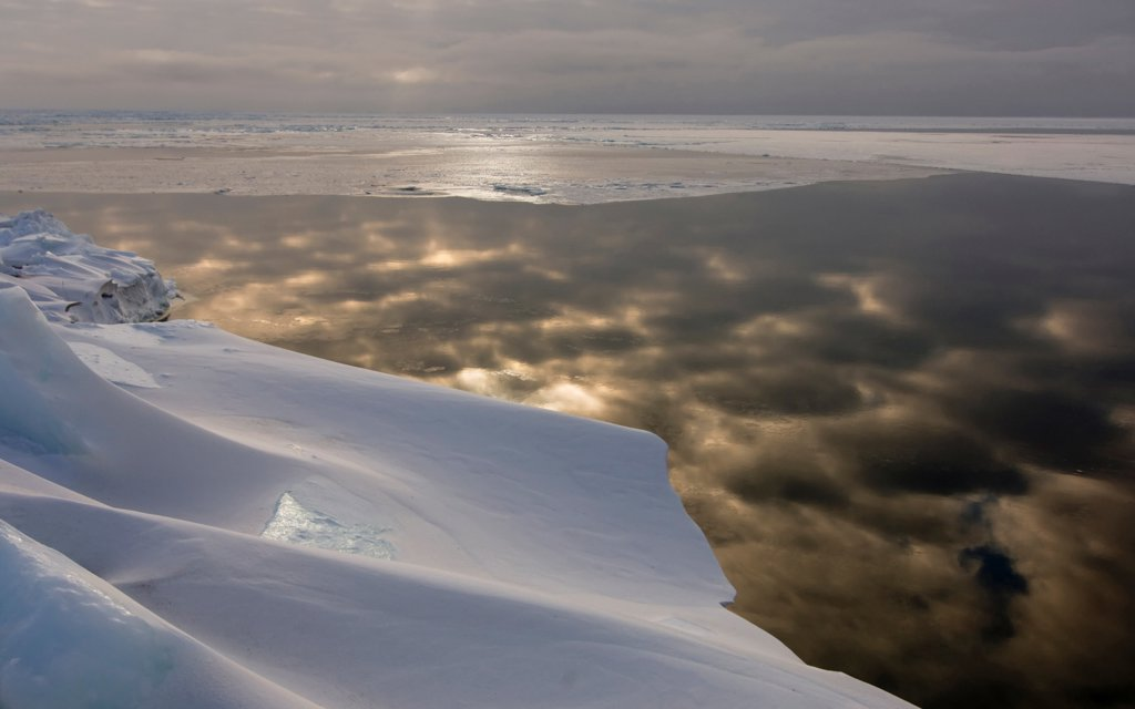 Stock Photo: 4340-1355 Edge of the Pack Ice in the Chukchi Sea
