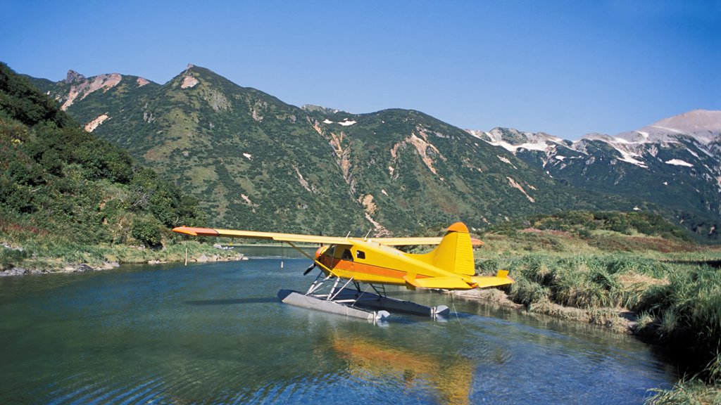 Stock Photo: 4340-655 Sea Plane in a Lagoon