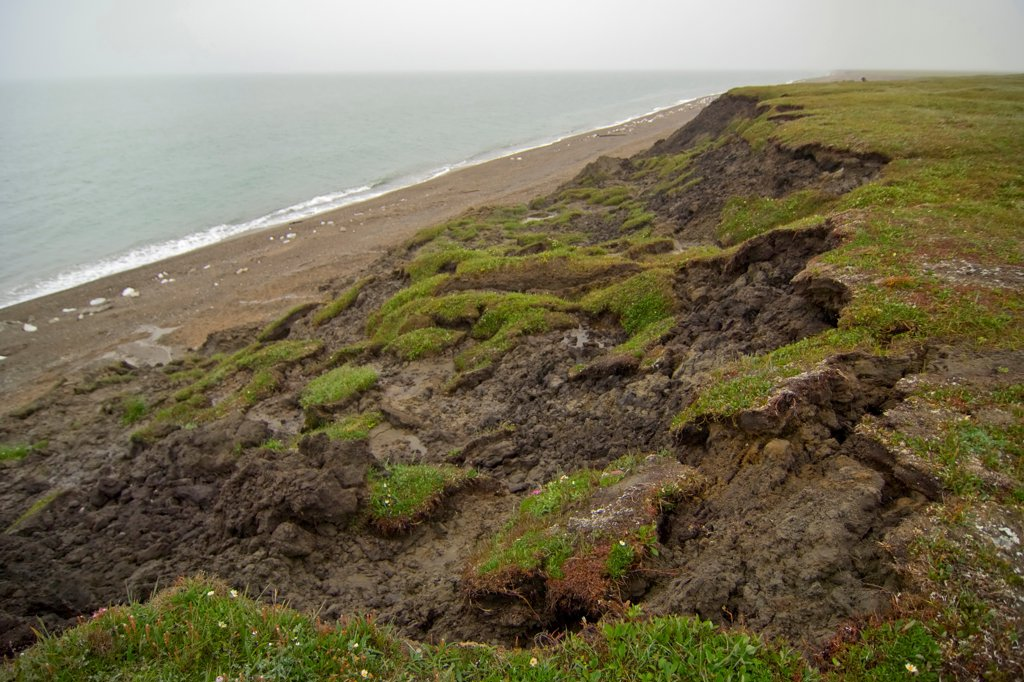 Stock Photo: 4340-931 Erosion Occurring Along The Arctic Coast Of Alaska