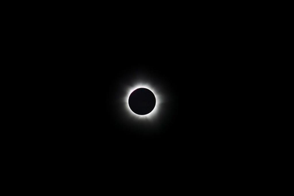Australia, Miallo, View of Total solar eclipse : Stock Photo