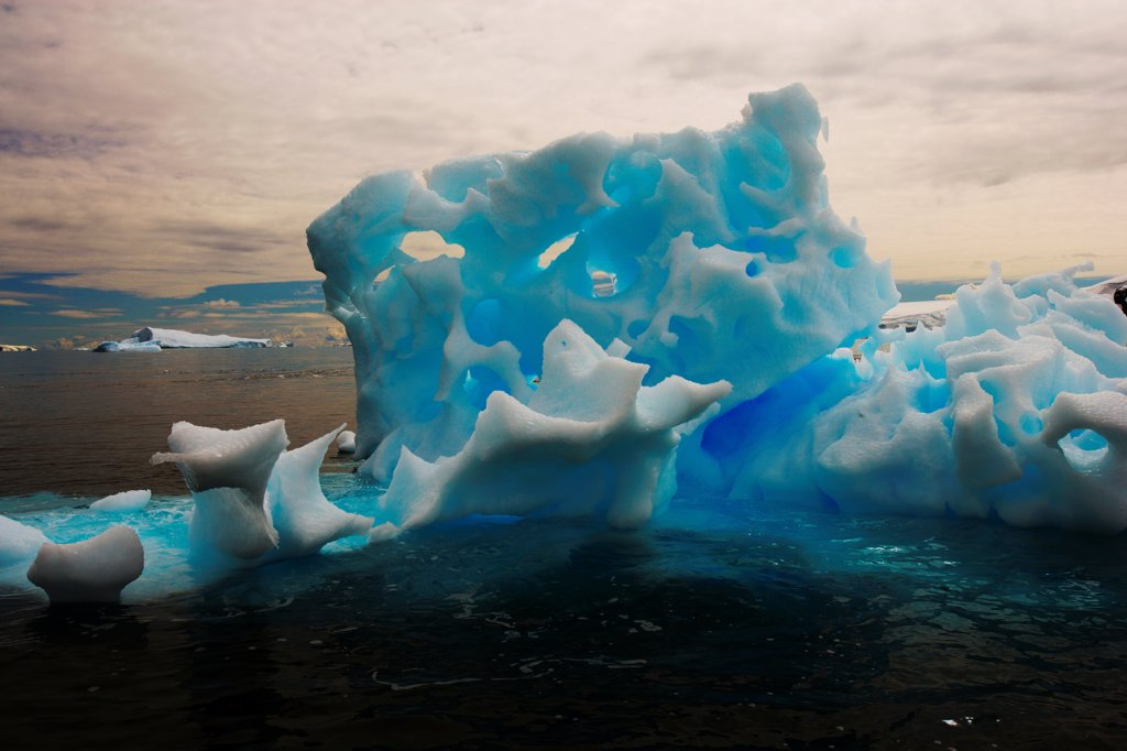 Stock Photo: 4355-128 A Fanciful Highly Eroded Iceberg
