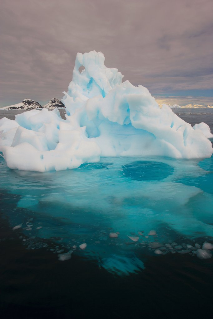 Stock Photo: 4355-130 A Fanciful Highly Eroded Iceberg