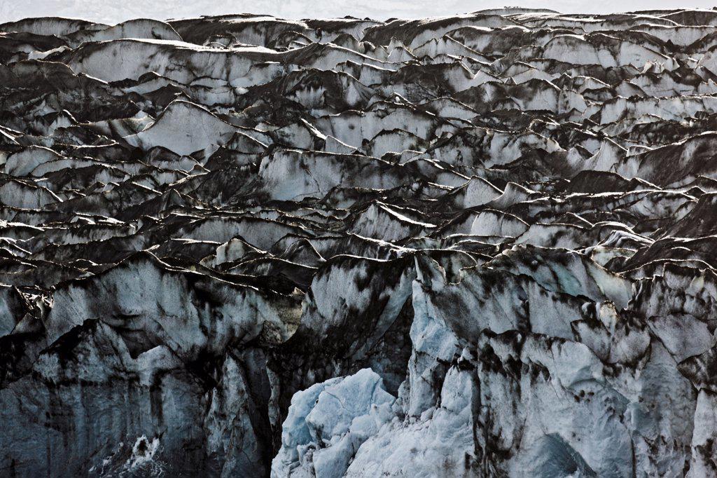 Stock Photo: 4355-1955 Jokulsarlon Glacier Lagoon, formed from Vatnajokull, Europe's largest glacier.