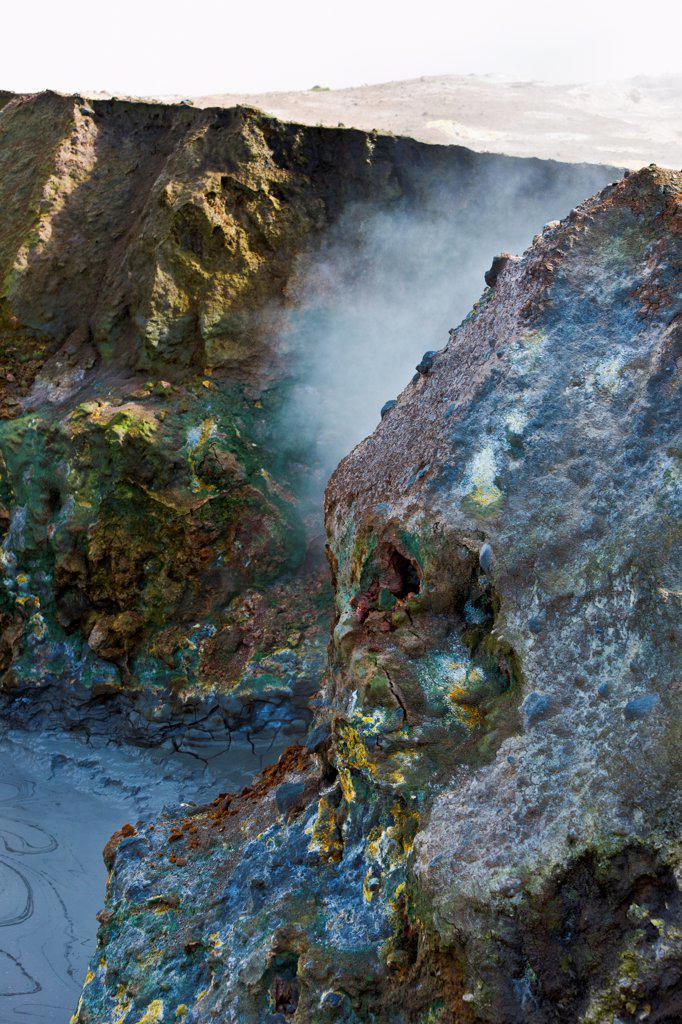 Stock Photo: 4355-2016 Bubbling mud in a geothermal area near Reykjanesvirkjun