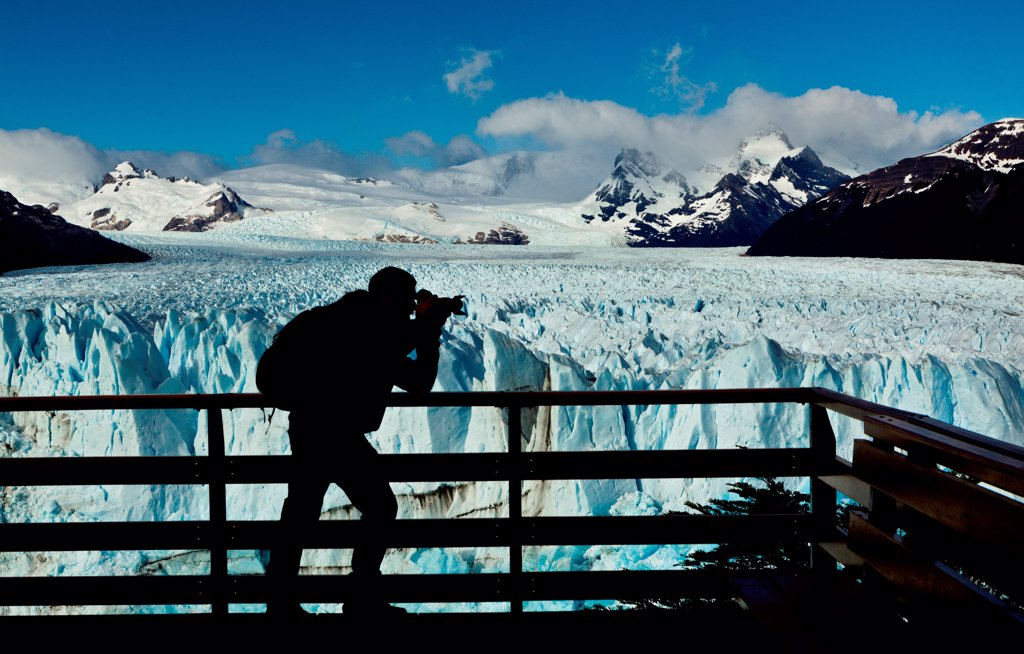 Stock Photo: 4355-2241 The Perito Moreno Glacier in Patagonia.