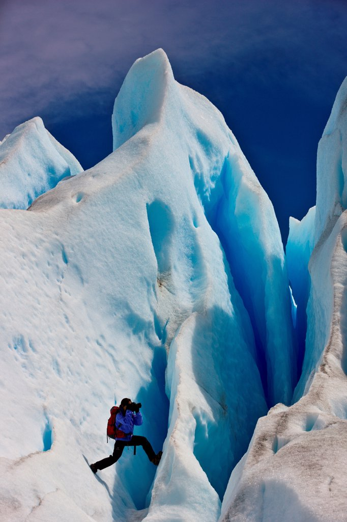 Stock Photo: 4355-2249 The Perito Moreno Glacier in Patagonia.