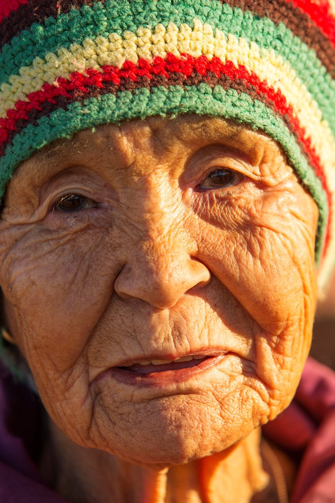 Stock Photo: 4355-2281 Greenland, Ittoqqortoormiit, Portrait of native inhabitant