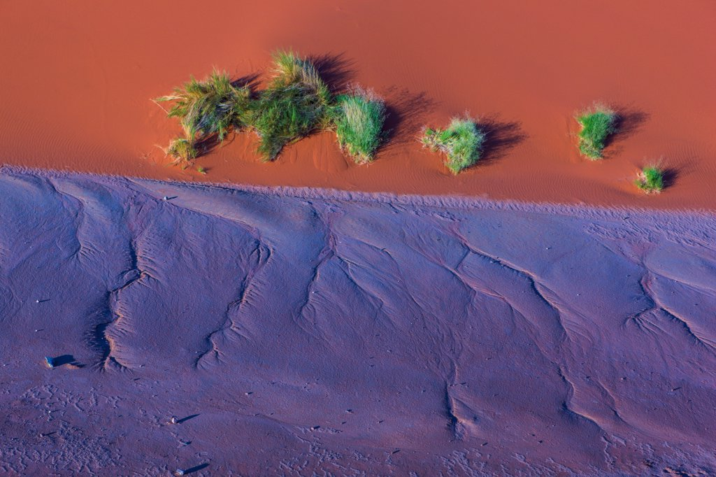Stock Photo: 4355-2438 Namibia, Namib-Naukluft National Park, Aerial view of Soussusvlei