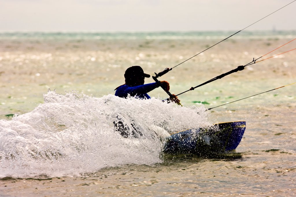 Stock Photo: 4355-259 Kitesurfing