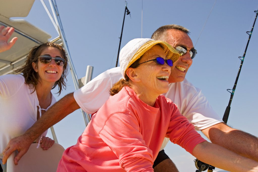 Stock Photo: 4355-397 Family Deep Sea Fishing
