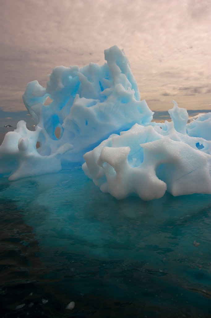 A Fanciful Highly Eroded Iceberg : Stock Photo