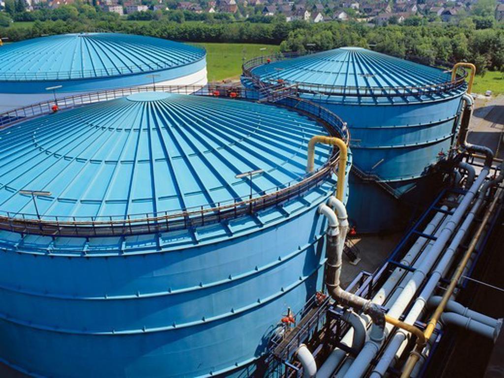 Stock Photo: 4359-180 Storage Tanks